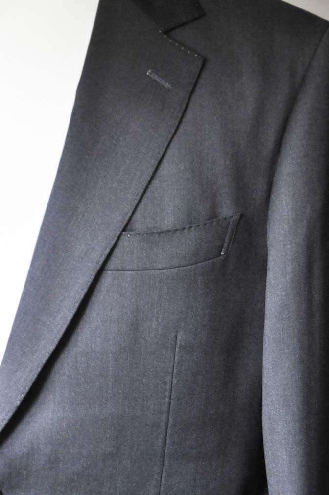 DSC0093-3 お客様のスーツの紹介-Biellesi無地グレースーツ- 名古屋の完全予約制オーダースーツ専門店DEFFERT