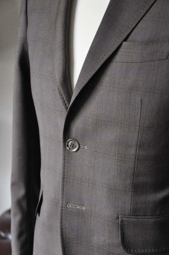 DSC0093-4 お客様のスーツの紹介-Biellesiブラウンチェックスーツ-