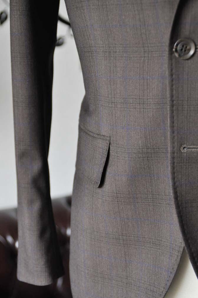 DSC0094-6 お客様のスーツの紹介-Biellesiブラウンチェックスーツ-