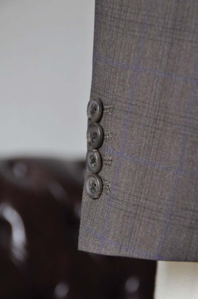 DSC0095-3 お客様のスーツの紹介-Biellesiブラウンチェックスーツ-