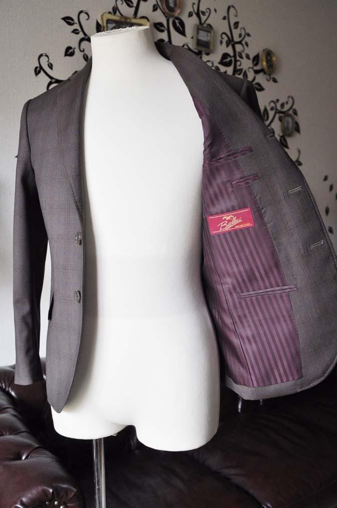 DSC0096-3 お客様のスーツの紹介-Biellesiブラウンチェックスーツ-