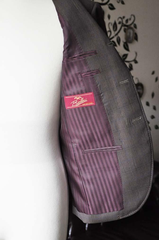 DSC0097-4 お客様のスーツの紹介-Biellesiブラウンチェックスーツ-
