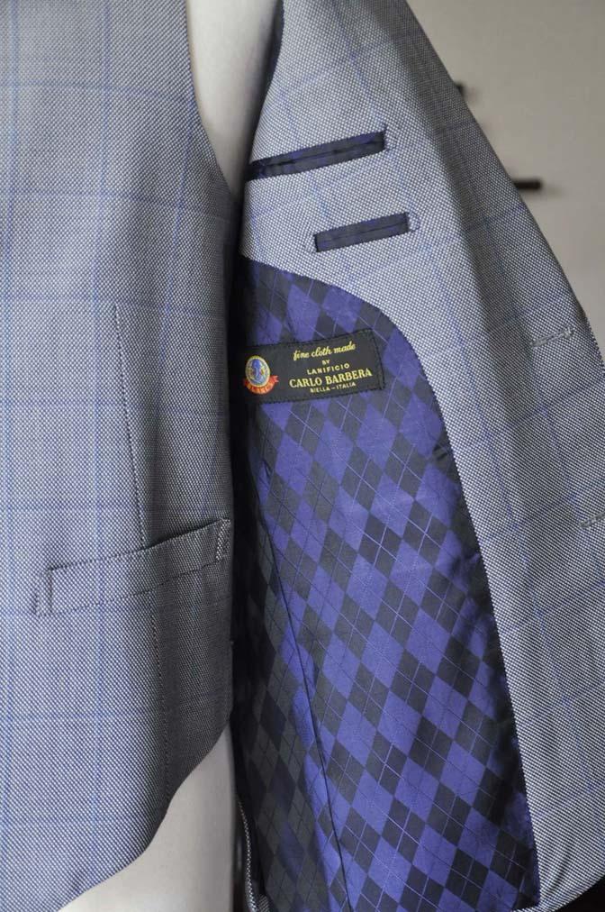 DSC0102 お客様のスーツの紹介- CARLO BARBERA グレーウィンドペン バーズアイ-