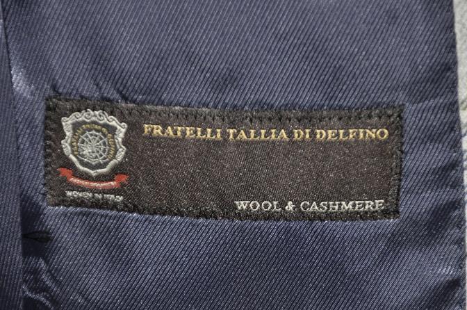 DSC01042 お客様のスーツの紹介-TALLIA DI DELFINO グレーチェックフランネル スリーピース-