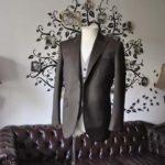 お客様のウエディング衣装の紹介- Biellesiブラウンスーツ ライトブラウン千鳥格子ベスト-
