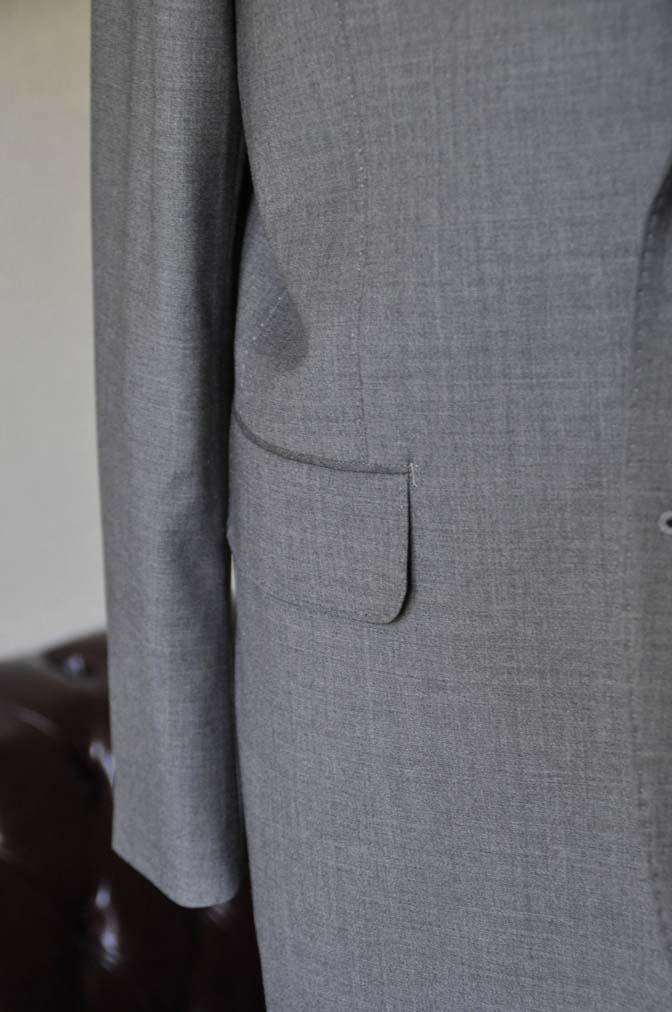 DSC0113-1 お客様のスーツの紹介- Biellesi 無地グレースーツ-