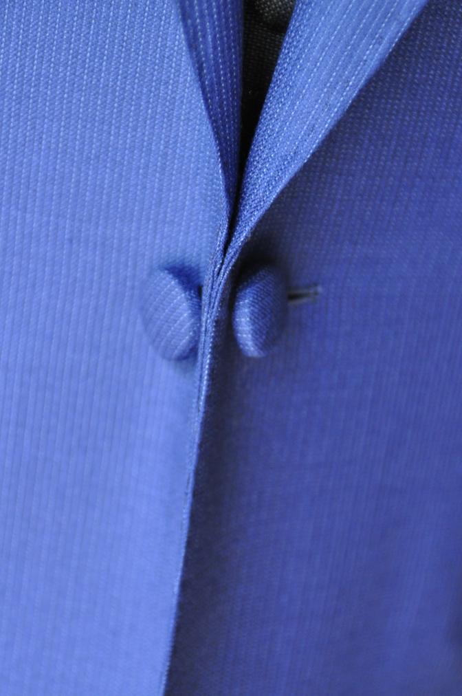 DSC0119 お客様のウエディング衣装の紹介- DORMEUIL  AMADEUSネイビーストライプスーツ グレーバーズアイベスト-