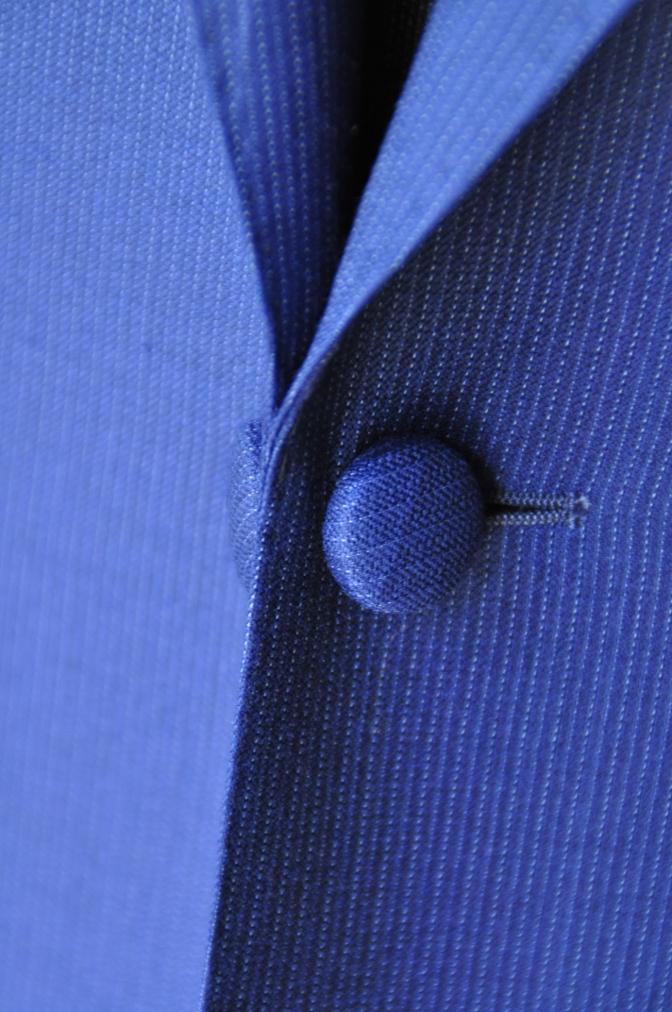 DSC0120 お客様のウエディング衣装の紹介- DORMEUIL  AMADEUSネイビーストライプスーツ グレーバーズアイベスト-