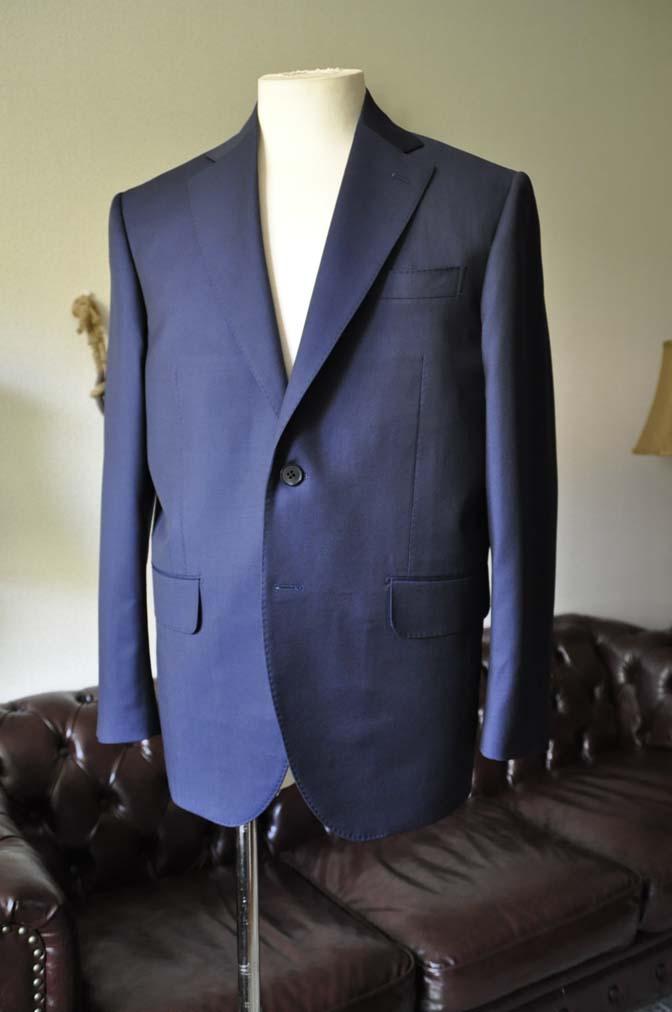 DSC0121-2 お客様のスーツの紹介- Canonico 無地ネイビースーツ-