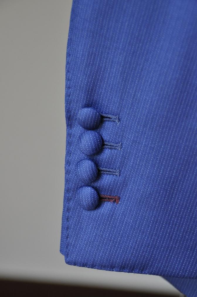 DSC0122 お客様のウエディング衣装の紹介- DORMEUIL  AMADEUSネイビーストライプスーツ グレーバーズアイベスト-