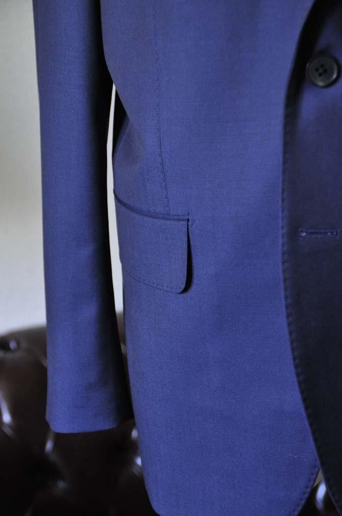 DSC0125-1 お客様のスーツの紹介- Canonico 無地ネイビースーツ-