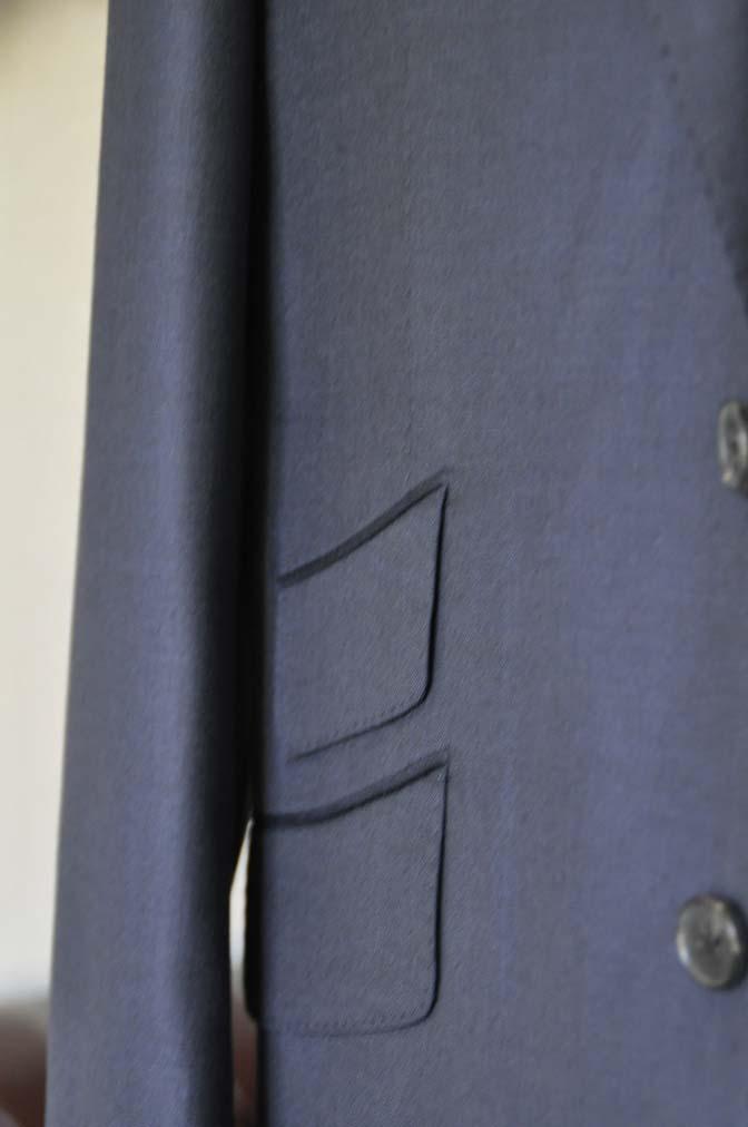DSC0128-1 お客様のスーツの紹介- DOEMEUIL AMADEUS 無地ネイビースリーピーススーツ-