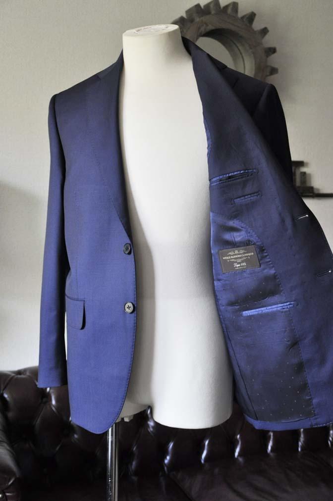 DSC0128-2 お客様のスーツの紹介- Canonico 無地ネイビースーツ-
