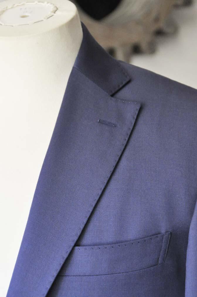 DSC0135-1 お客様のスーツの紹介- Biellesi 無地ネイビースーツ-