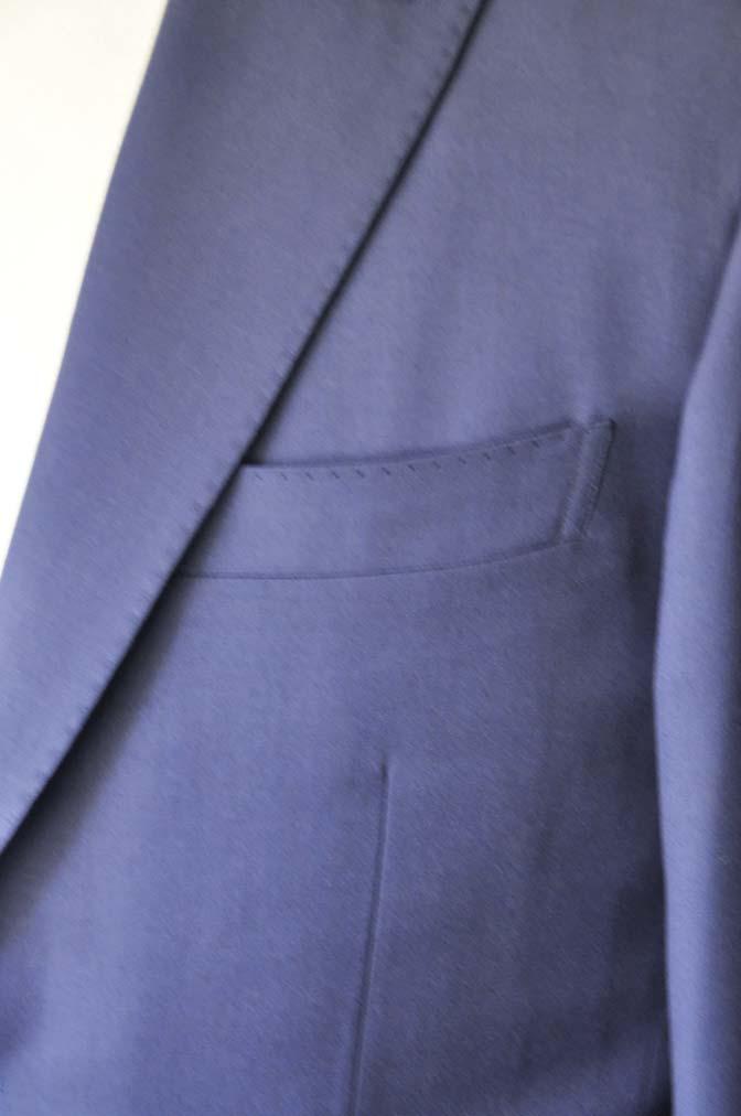 DSC0136-1 お客様のスーツの紹介- Biellesi 無地ネイビースーツ-