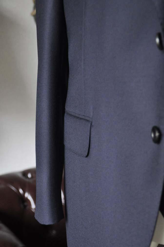 DSC0141-2 お客様のスーツの紹介- CANONICO 無地ネイビースリーピース- 名古屋の完全予約制オーダースーツ専門店DEFFERT