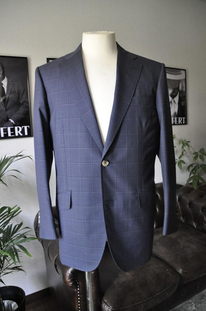 DSC01421 お客様のスーツの紹介-TALLIA DI DELFINO ネイビーウィンドペン -
