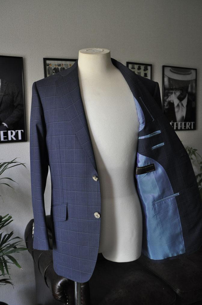 DSC01432 お客様のスーツの紹介-TALLIA DI DELFINO ネイビーウィンドペン -
