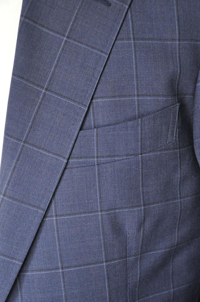 DSC01482 お客様のスーツの紹介-TALLIA DI DELFINO ネイビーウィンドペン -