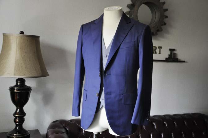DSC0151-2 お客様のウエディング衣装の紹介-Biellesi ネイビースーツ グレー千鳥格子ベスト-