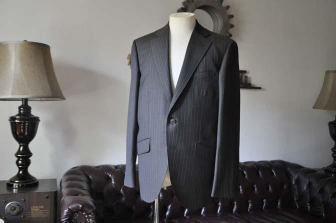 DSC0151-3 お客様のスーツの紹介-REDAネイビーストライプ- 名古屋の完全予約制オーダースーツ専門店DEFFERT