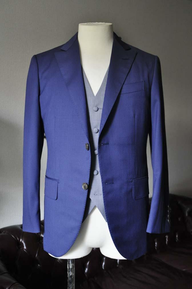 DSC0153-1 お客様のウエディング衣装の紹介-Biellesi ネイビースーツ グレー千鳥格子ベスト-