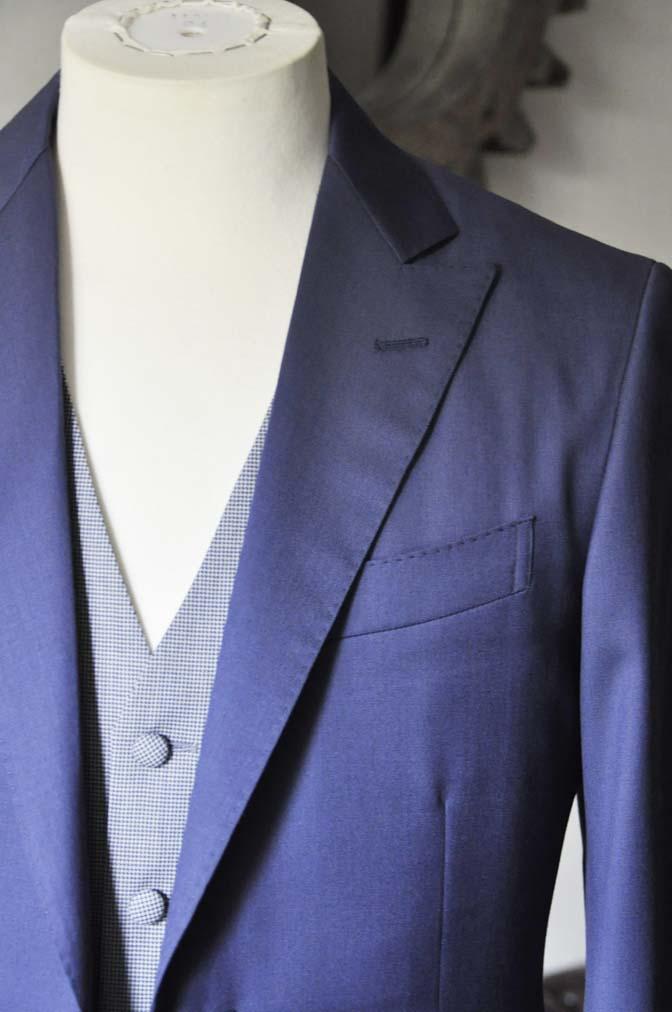 DSC0155-2 お客様のウエディング衣装の紹介-Biellesi ネイビースーツ グレー千鳥格子ベスト-