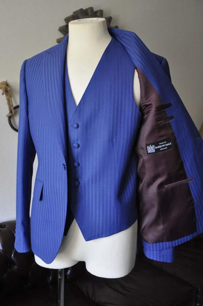 DSC0156-1 お客様のウエディング衣装の紹介- DARROW DALE ブルーヘリンボーンスリーピース-DSC0156-1 お客様のウエディング衣装の紹介- DARROW DALE ブルーヘリンボーンスリーピース- 名古屋市のオーダータキシードはSTAIRSへ