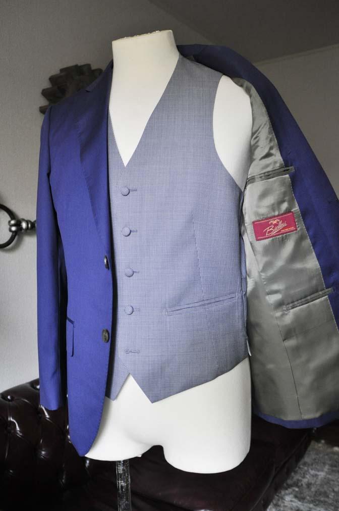 DSC0156-2 お客様のウエディング衣装の紹介-Biellesi ネイビースーツ グレー千鳥格子ベスト-