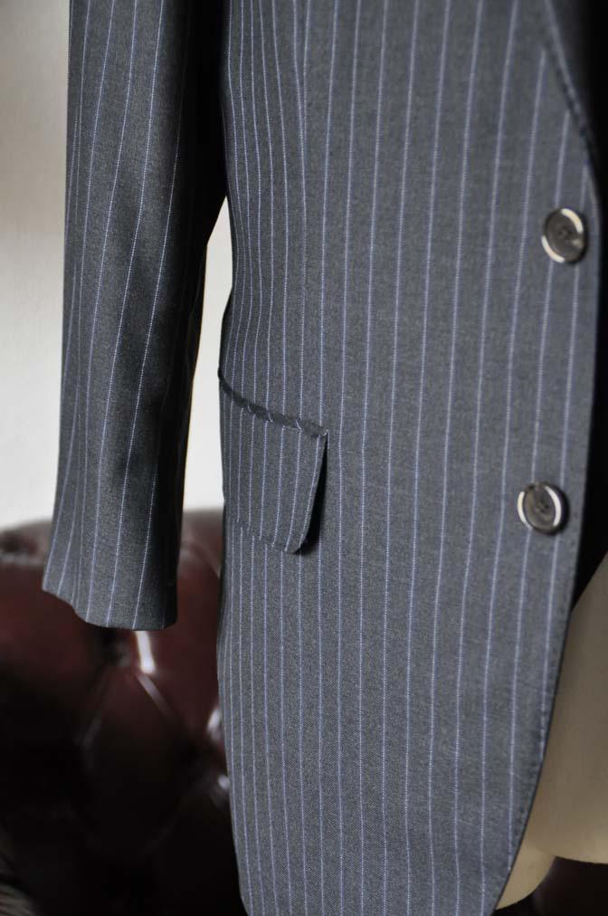 DSC0156-4 お客様のスーツの紹介-CANONICOグレーストライプ スリーピース-