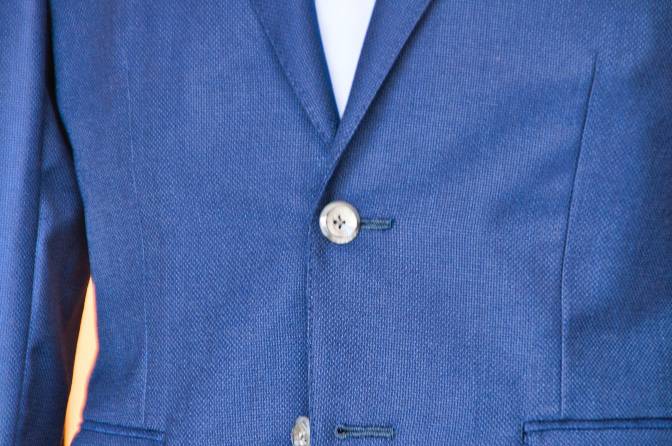 DSC0156 オーダージャケットの紹介-CANONICO ネイビーホップサックジャケット-