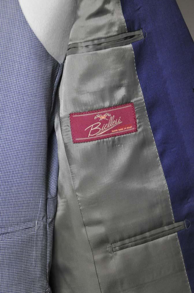 DSC0157-1 お客様のウエディング衣装の紹介-Biellesi ネイビースーツ グレー千鳥格子ベスト-
