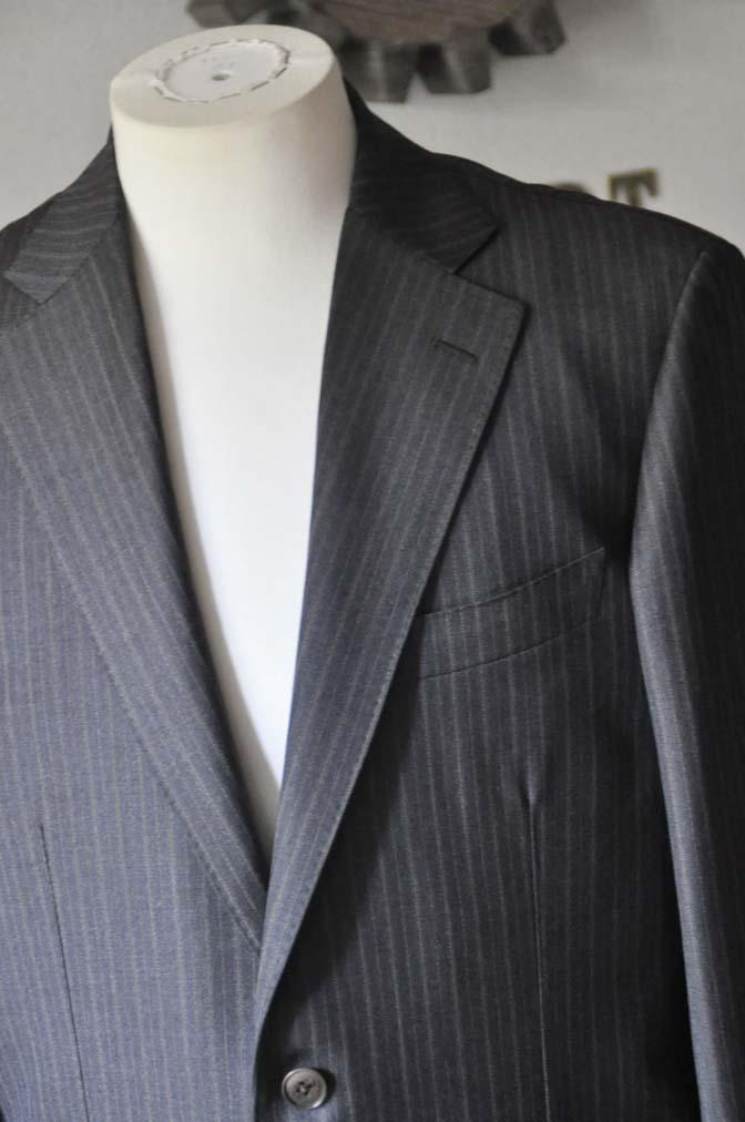 DSC0157-2 お客様のスーツの紹介-REDAネイビーストライプ- 名古屋の完全予約制オーダースーツ専門店DEFFERT