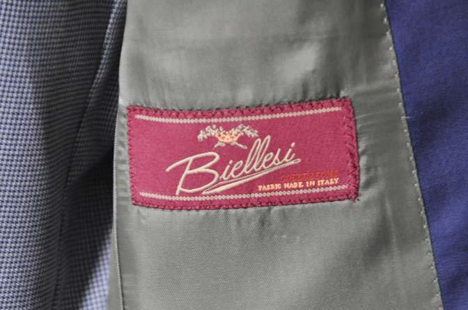 DSC0158-1 お客様のウエディング衣装の紹介-Biellesi ネイビースーツ グレー千鳥格子ベスト-
