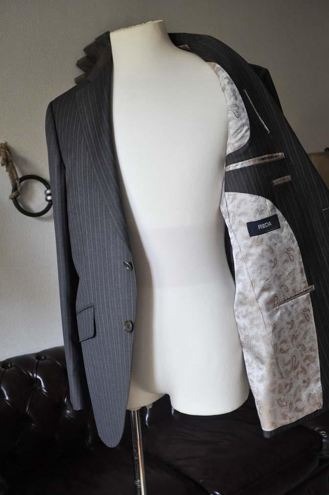 DSC0159-2 お客様のスーツの紹介-REDAネイビーストライプ- 名古屋の完全予約制オーダースーツ専門店DEFFERT