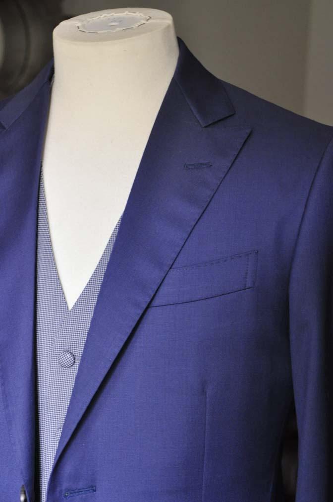 DSC0160-1 お客様のウエディング衣装の紹介-Biellesi ネイビースーツ グレー千鳥格子ベスト-
