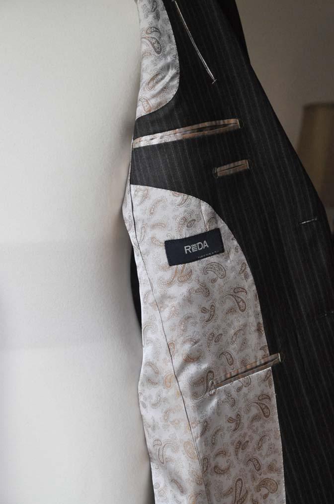 DSC0160-2 お客様のスーツの紹介-REDAネイビーストライプ- 名古屋の完全予約制オーダースーツ専門店DEFFERT