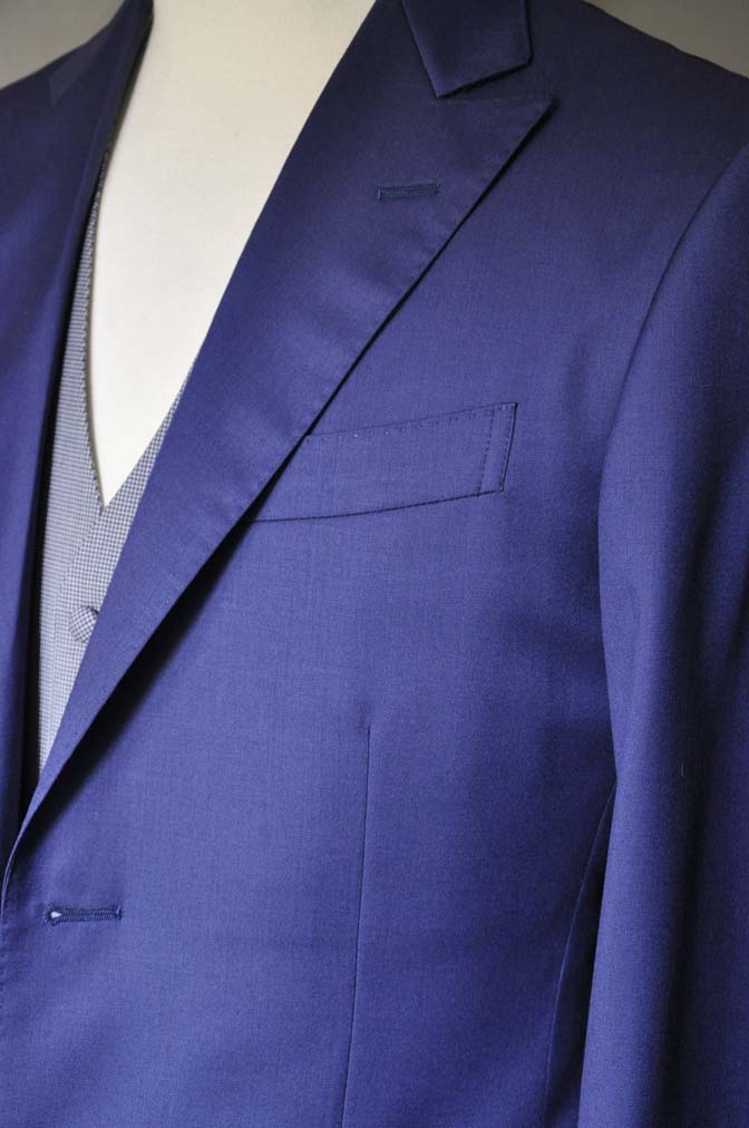 DSC0161-3 お客様のウエディング衣装の紹介-Biellesi ネイビースーツ グレー千鳥格子ベスト-