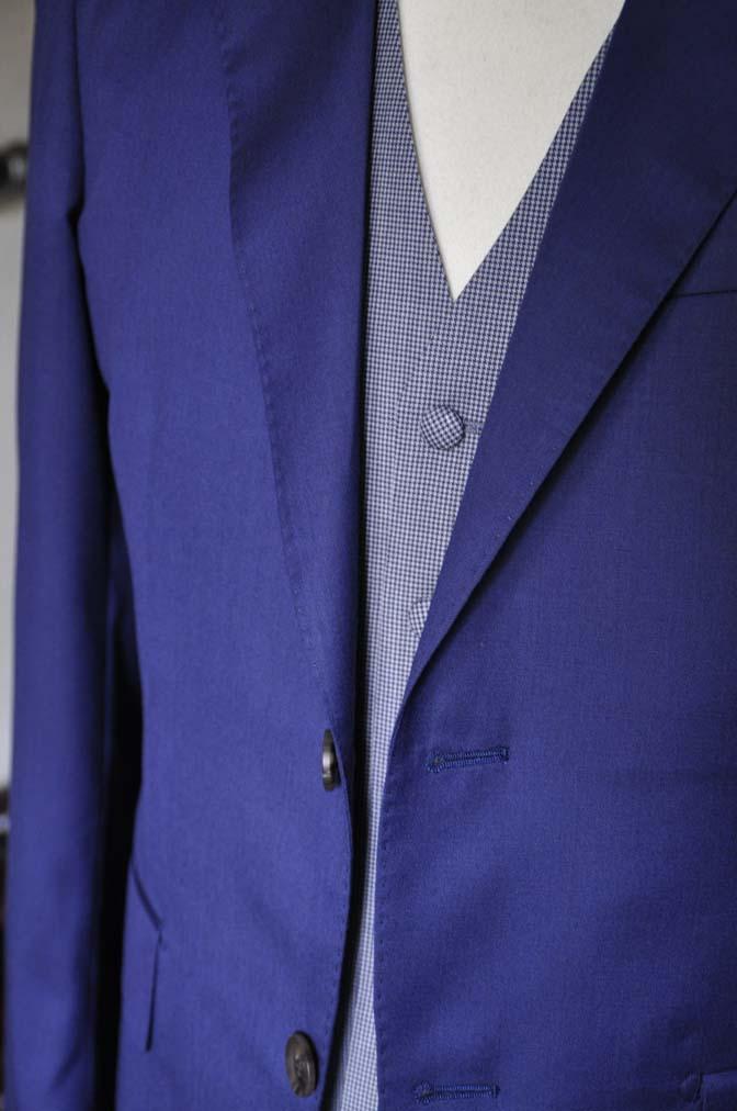 DSC0162-3 お客様のウエディング衣装の紹介-Biellesi ネイビースーツ グレー千鳥格子ベスト-