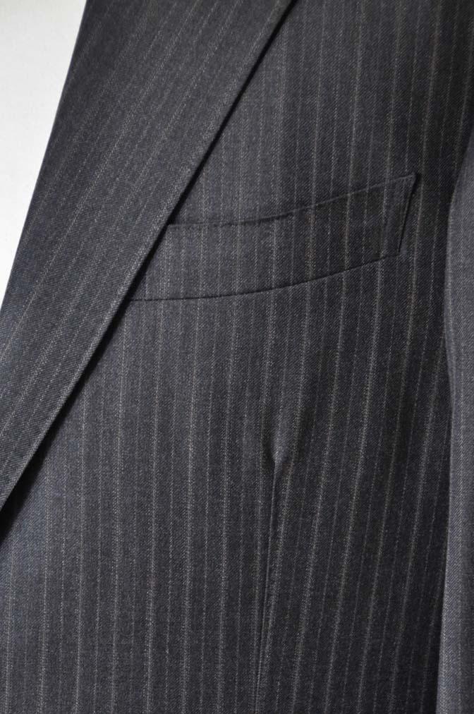 DSC0162-4 お客様のスーツの紹介-REDAネイビーストライプ- 名古屋の完全予約制オーダースーツ専門店DEFFERT