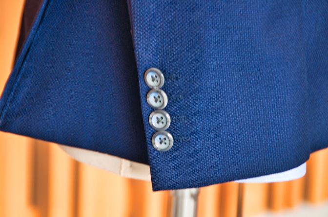DSC0162 オーダージャケットの紹介-CANONICO ネイビーホップサックジャケット-