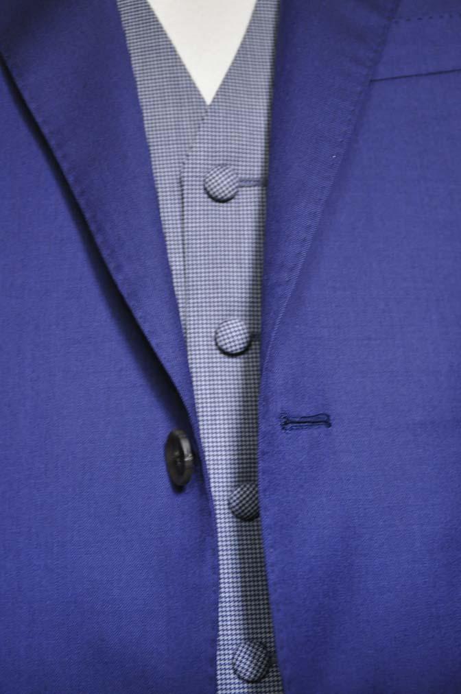 DSC0163-2 お客様のウエディング衣装の紹介-Biellesi ネイビースーツ グレー千鳥格子ベスト-