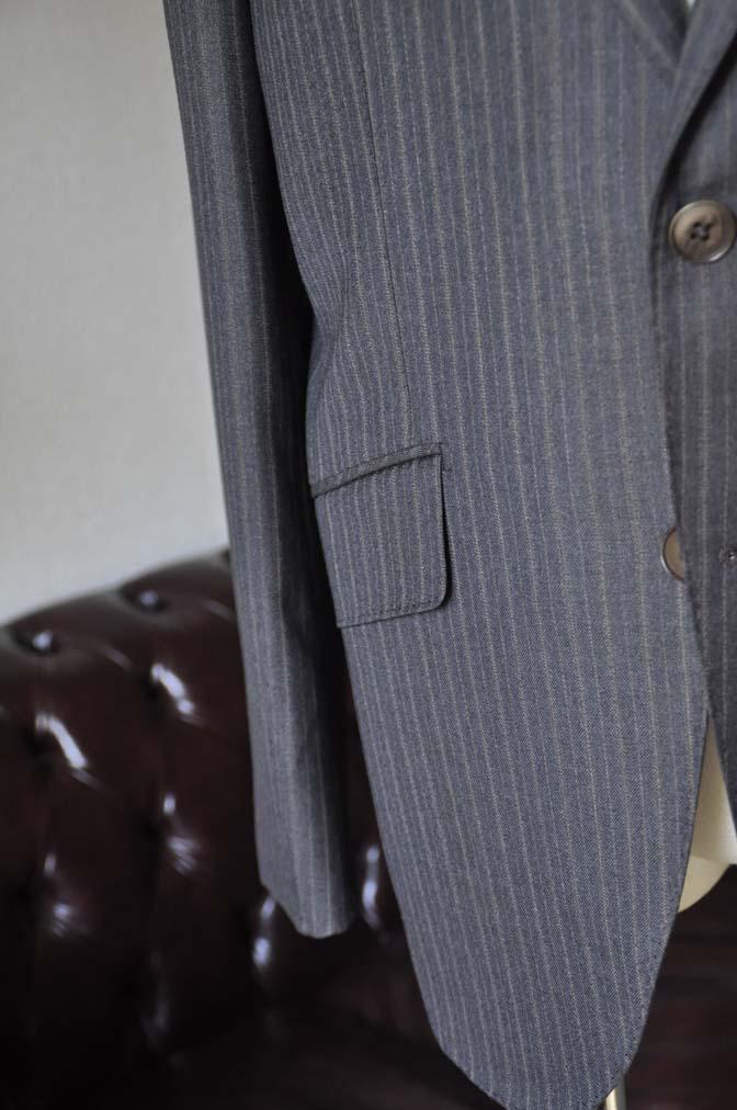 DSC0164-4 お客様のスーツの紹介-REDAネイビーストライプ- 名古屋の完全予約制オーダースーツ専門店DEFFERT
