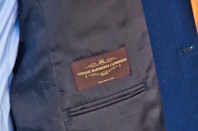 DSC0164 オーダージャケットの紹介-CANONICO ネイビーホップサックジャケット-