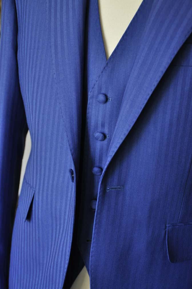 DSC0165-2 お客様のウエディング衣装の紹介- DARROW DALE ブルーヘリンボーンスリーピース-DSC0165-2 お客様のウエディング衣装の紹介- DARROW DALE ブルーヘリンボーンスリーピース- 名古屋市のオーダータキシードはSTAIRSへ