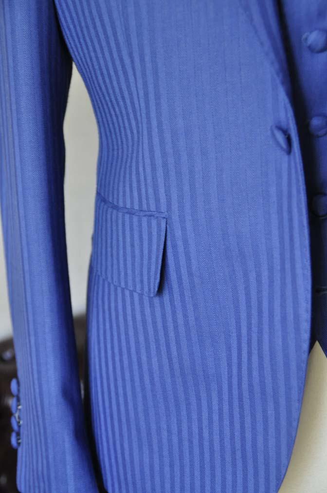 DSC0167-2 お客様のウエディング衣装の紹介- DARROW DALE ブルーヘリンボーンスリーピース-DSC0167-2 お客様のウエディング衣装の紹介- DARROW DALE ブルーヘリンボーンスリーピース- 名古屋市のオーダータキシードはSTAIRSへ