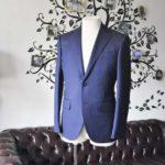 お客様のスーツの紹介-Biellesiネイビーヘリンボーンスーツ-