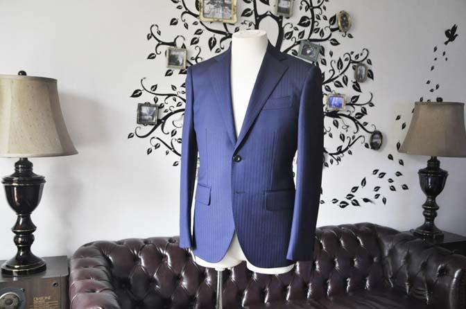 DSC0167-4 お客様のスーツの紹介-Biellesiネイビーヘリンボーンスーツ-