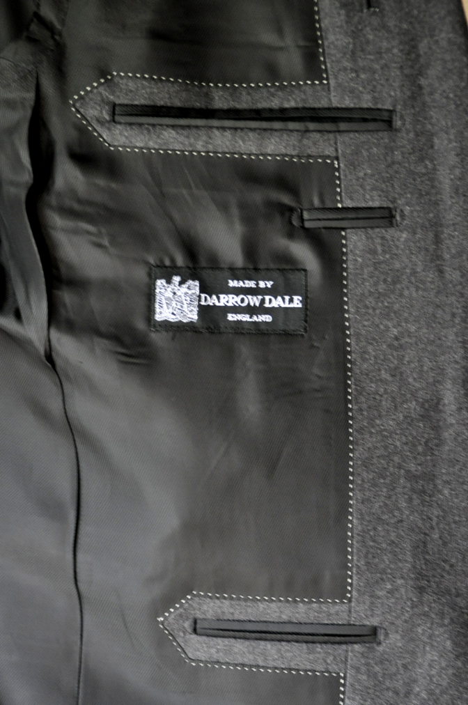 DSC0169 お客様のジャケットの紹介-DARROW DALE 無地グレーフランネル-
