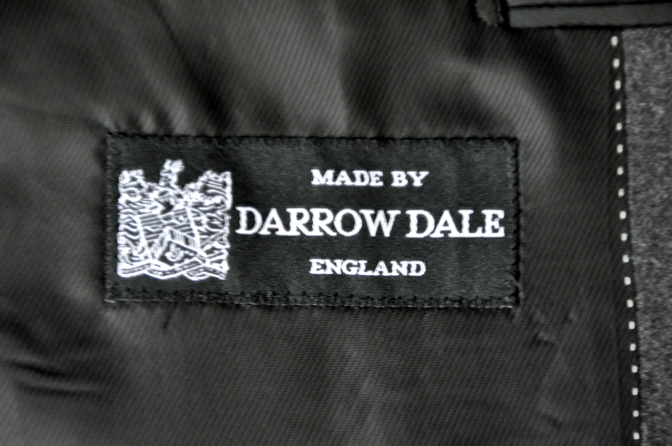 DSC0171 お客様のジャケットの紹介-DARROW DALE 無地グレーフランネル- 名古屋の完全予約制オーダースーツ専門店DEFFERT